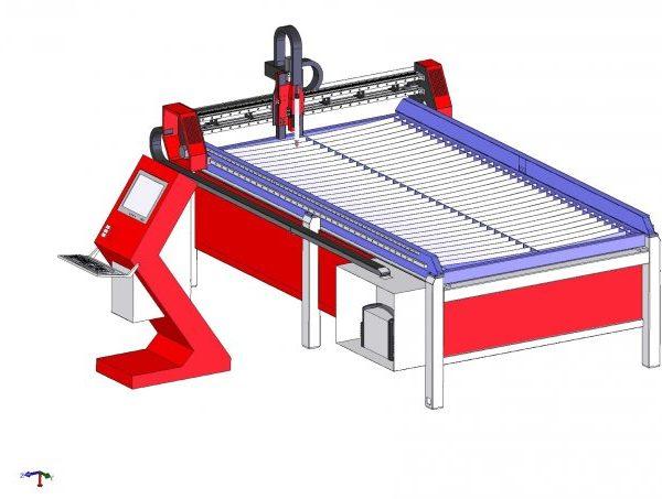 3D моделирование лазерного станка с ЧПУ